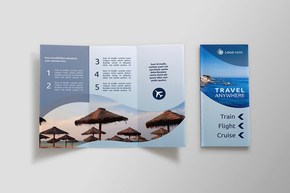 Tri Fold Travel Brochure Template Elegant Travel Tri Fold Brochure Sk Brochure Templates