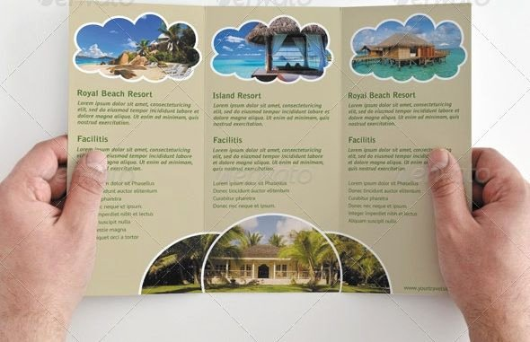 Tri Fold Travel Brochure Template Elegant Tri Fold Brochure Template Travel Agency