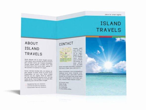 Tri Fold Travel Brochure Template Fresh 40 Print Ready Brochure Templates