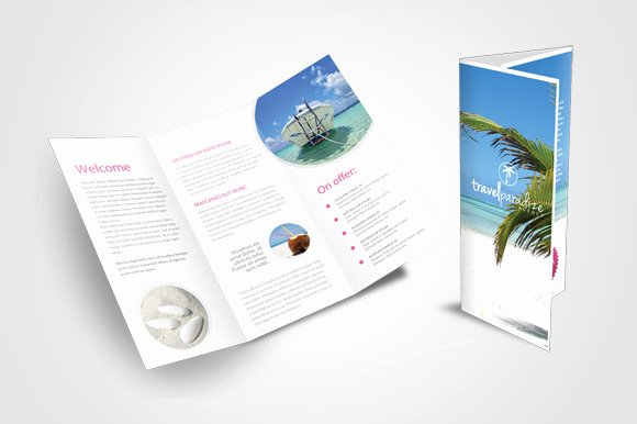 Tri Fold Travel Brochure Template Fresh Travel Agency Tri Fold Brochure Templates On Creative Market