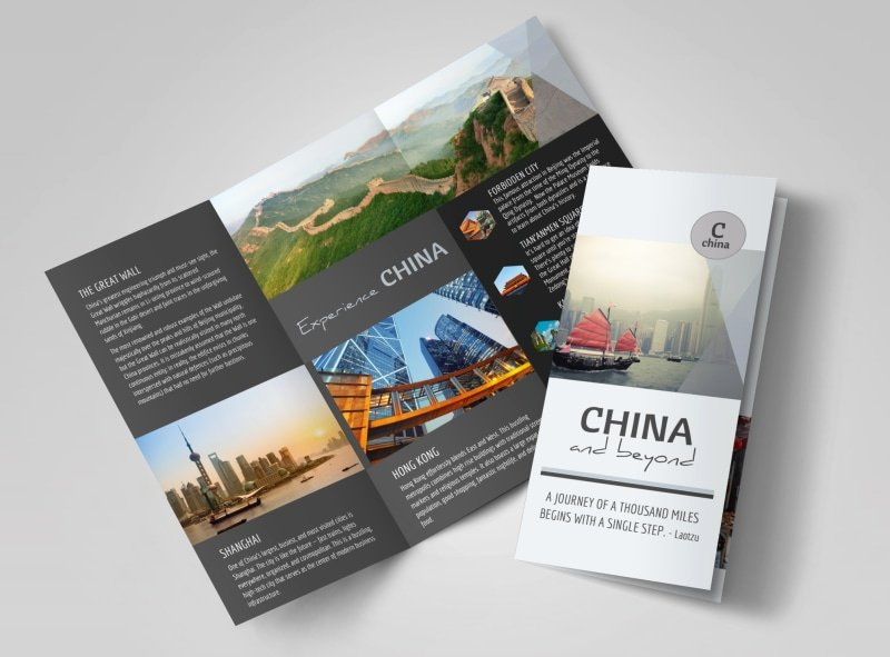 Tri Fold Travel Brochure Template Inspirational China Travel Tri Fold Brochure Template