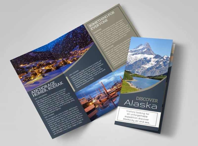 Tri Fold Travel Brochure Template Inspirational Travel Alaska Tri Fold Brochure Template