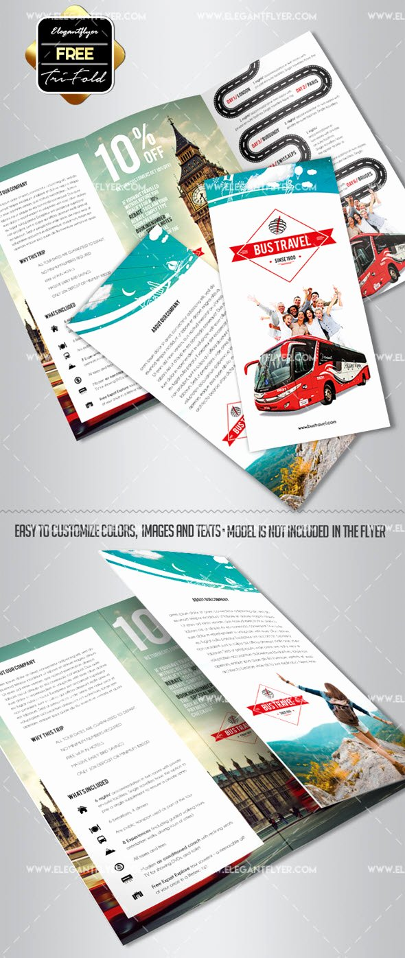 Tri Fold Travel Brochure Template Lovely 30 Free Brochure Templates for Food Health & Beauty and