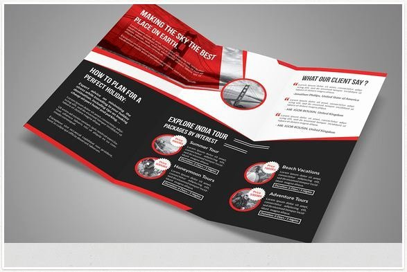 Tri Fold Travel Brochure Template Lovely Travel Brochure Templates for Travel Agencies Texty Cafe
