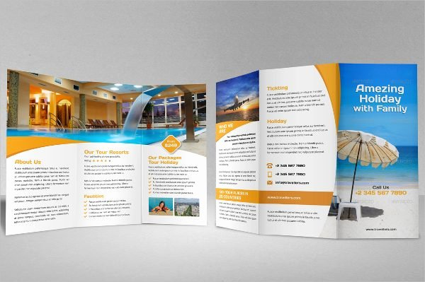 Tri Fold Travel Brochure Template Lovely Travel Brochure Tri Fold