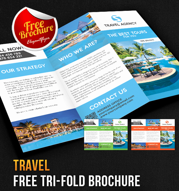 Tri Fold Travel Brochure Template Luxury 65 Print Ready Brochure Templates Free Psd Indesign & Ai