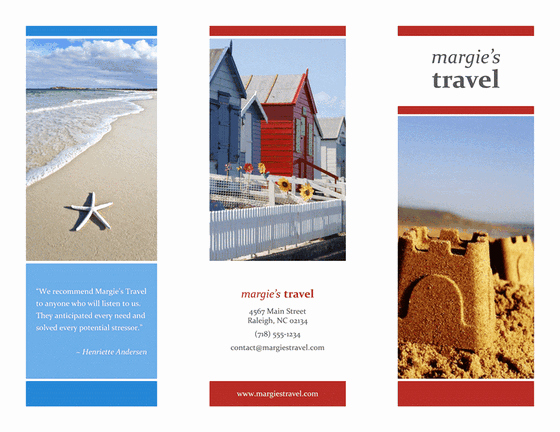 Tri Fold Travel Brochure Template Luxury Tri Fold Travel Brochure Red Gold Blue Design Template