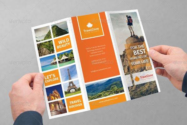 Tri Fold Travel Brochure Template New 75 Brochure Designs & Examples Psd Ai Eps Vector
