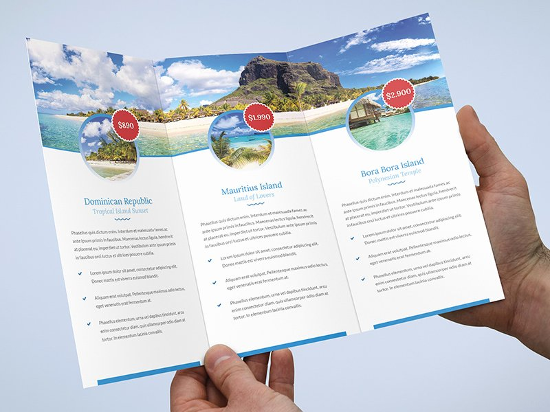 Tri Fold Travel Brochure Template New Brochure – Travel Agency Tri Fold Template by Artbart