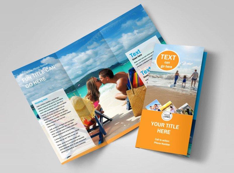 Tri Fold Travel Brochure Template New Sunny Travel Brochure Template