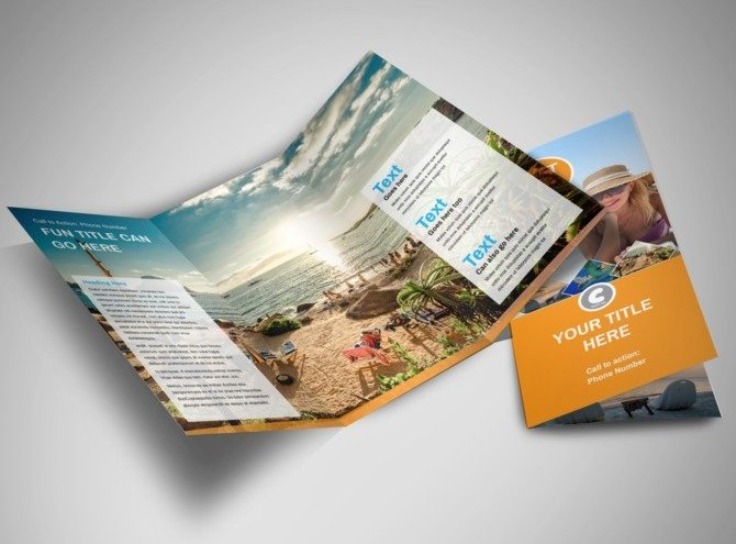 Tri Fold Travel Brochure Template Unique Sunny Travel Tri Fold Brochure Template