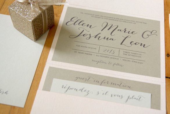 Tri Fold Wedding Invite Template Best Of 12 Tri Fold Wedding Invitation Templates Psd