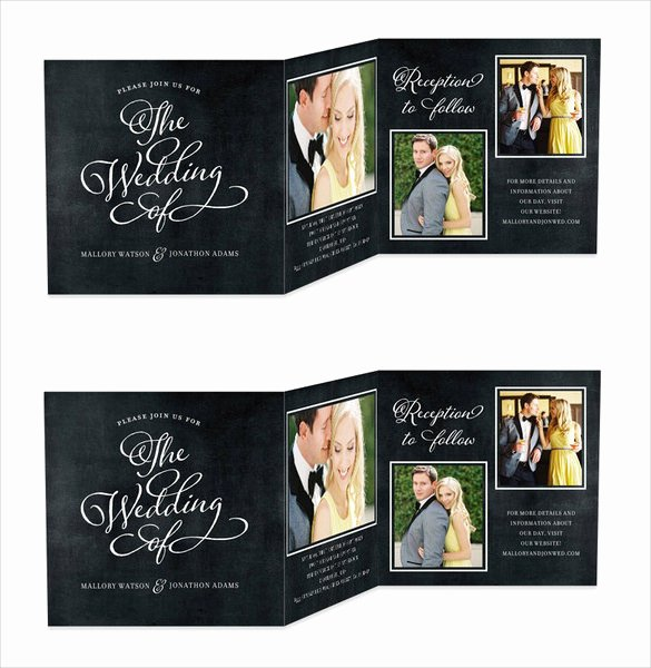 Tri Fold Wedding Invite Template Best Of 19 Trifold Wedding Invitation Templates – Free Sample