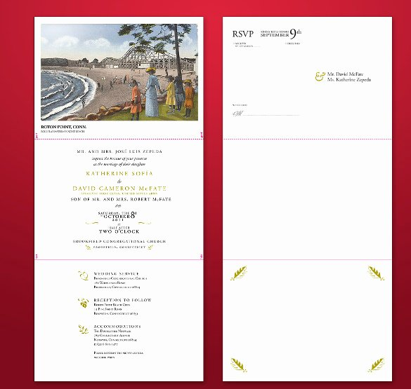 Tri Fold Wedding Invite Template Elegant 12 Tri Fold Wedding Invitation Templates Psd