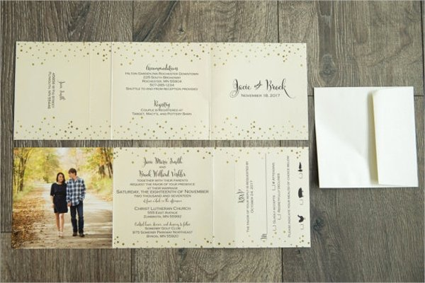 Tri Fold Wedding Invite Template Elegant 22 Wedding Invitations