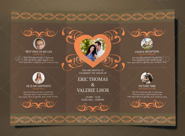 Tri Fold Wedding Invite Template Lovely 17 Tri Fold Wedding Invitation Templates Free & Premium