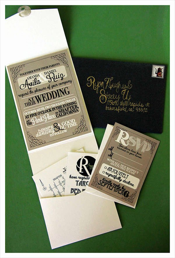 Tri Fold Wedding Invite Template Lovely 60 Wedding Invitations Design