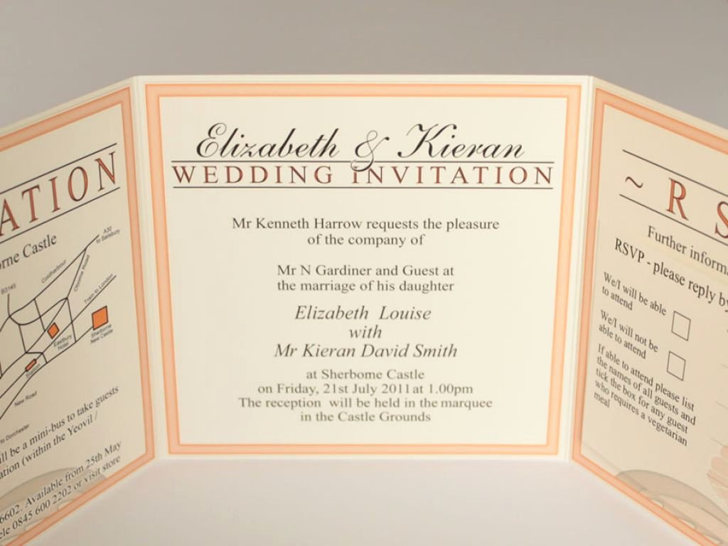 Tri Fold Wedding Invite Template Lovely Tri Fold Invitations Template Best Invitation Ideas