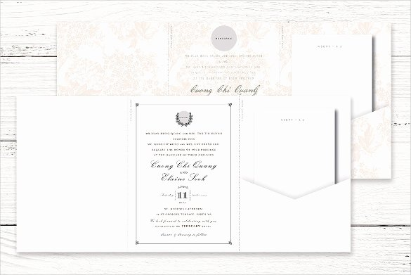 Tri Fold Wedding Invite Template Luxury 12 Tri Fold Wedding Invitation Templates Psd