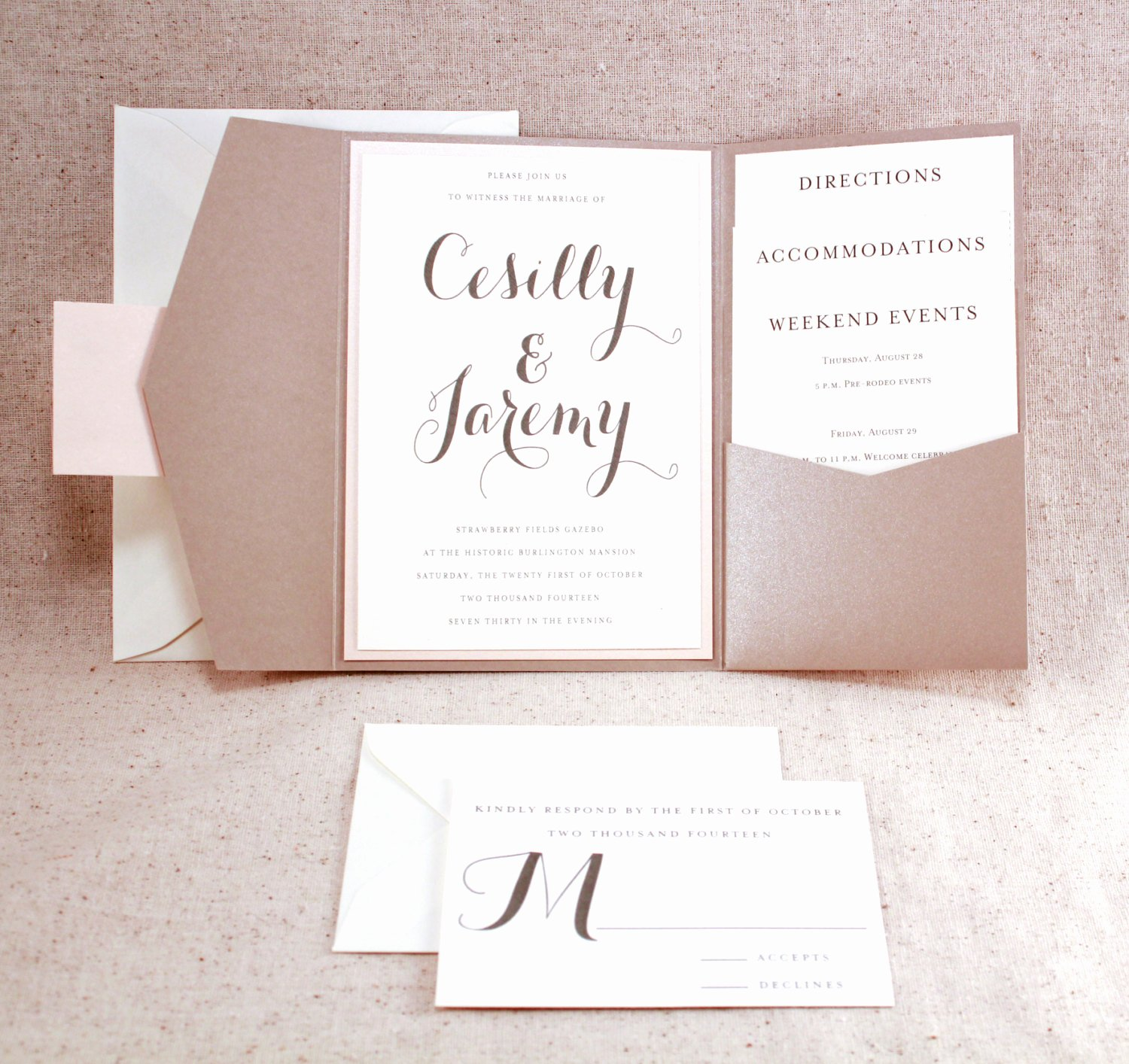 Tri Fold Wedding Invite Template Luxury Tri Fold Wedding Invitations with Pocket