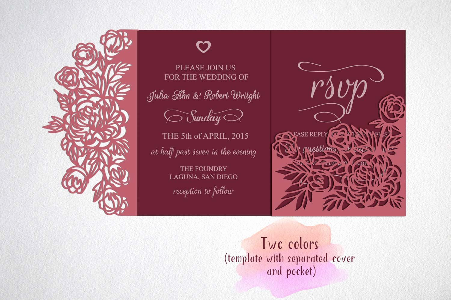Tri Fold Wedding Invite Template New Tri Fold Wedding Invitation Svg Cricu