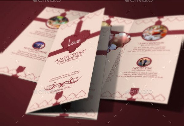 Tri Fold Wedding Invite Template Unique 17 Tri Fold Wedding Invitation Templates Free & Premium