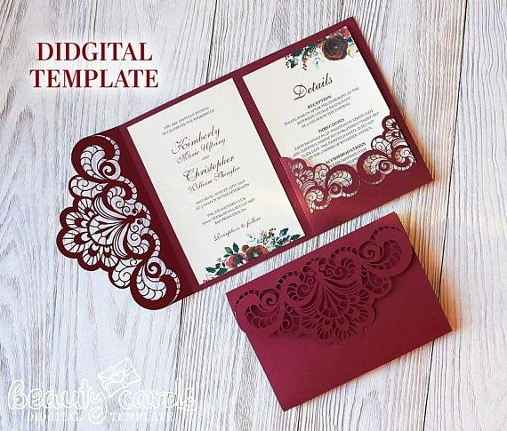 Tri Fold Wedding Invite Template Unique Wedding Invitation Template Envelope Tri Fold ornamental