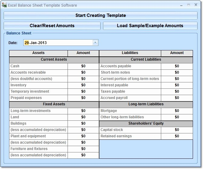 Trial Balance Excel Template Awesome Excel Balance Sheet Template software