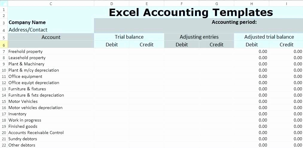 Trial Balance Template Excel Elegant Trial Plant Inventory Template Design Pattern In Java