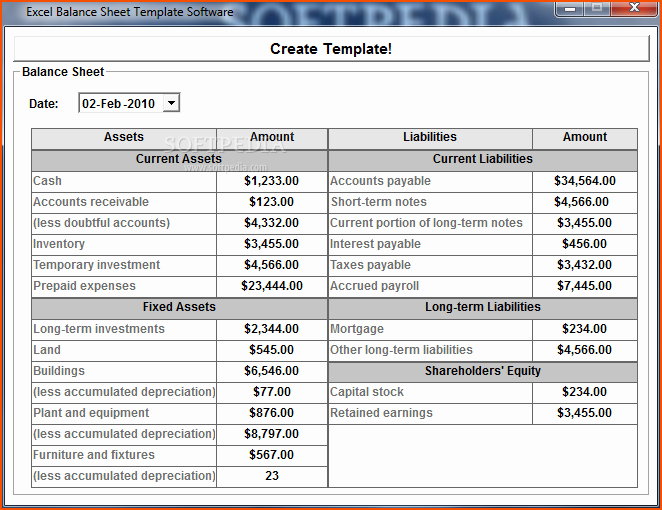 Trial Balance Template Excel Luxury 6 Excel Balance Sheet Template Bookletemplate