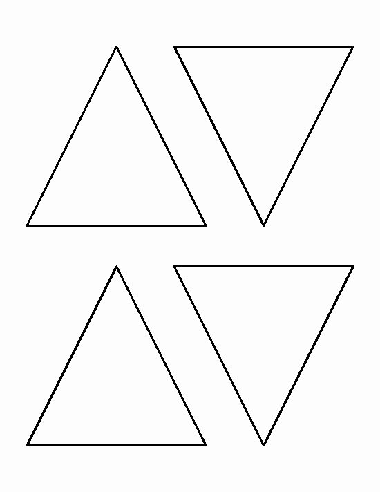 Triangle Banner Template Free Beautiful 4 Inch Triangle Pattern Use the Printable Outline for