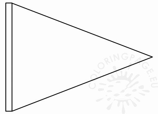 Triangle Banner Template Free Fresh Birthday Coloring Page