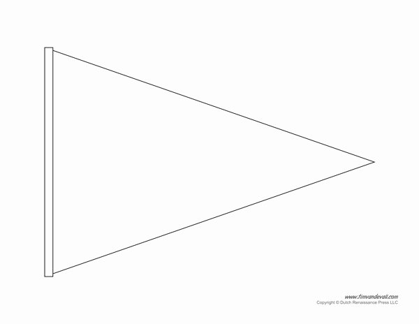 Triangle Banner Template Free Fresh Fetching Triangle Flag Banner Template Printable Pennant