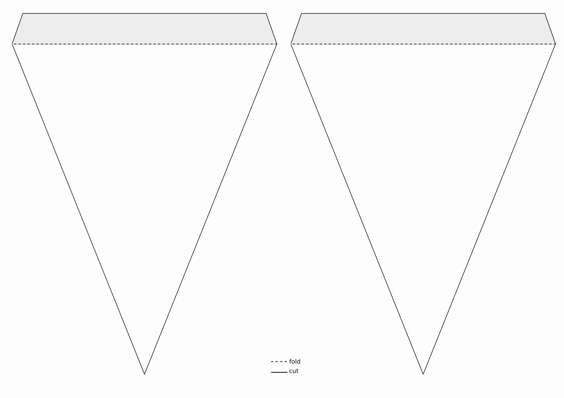 Triangle Banner Template Free Fresh Triangle Pennant Banner Template Clipart Design Droide