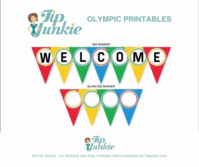 Triangle Banner Template Free New Wel E Triangle Pennant Banner Free Printable