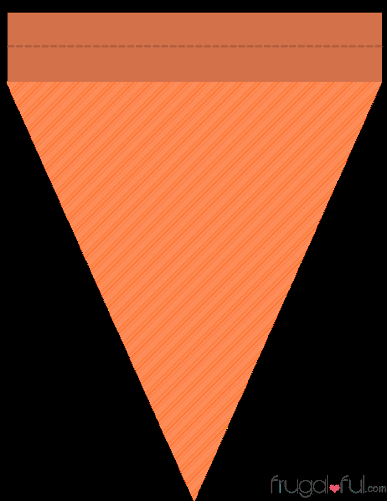 Triangle Banner Template Free Unique Diy Free Printable Halloween Triangle Banner Template