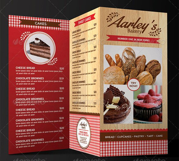 Trifold Menu Template Free Awesome 30 Bakery Menu Templates Psd Pdf Eps Indesign