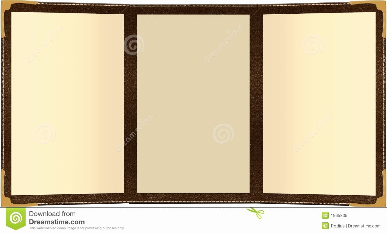 Trifold Menu Template Free Beautiful Trifold Menu Stock Illustration Illustration Of Food