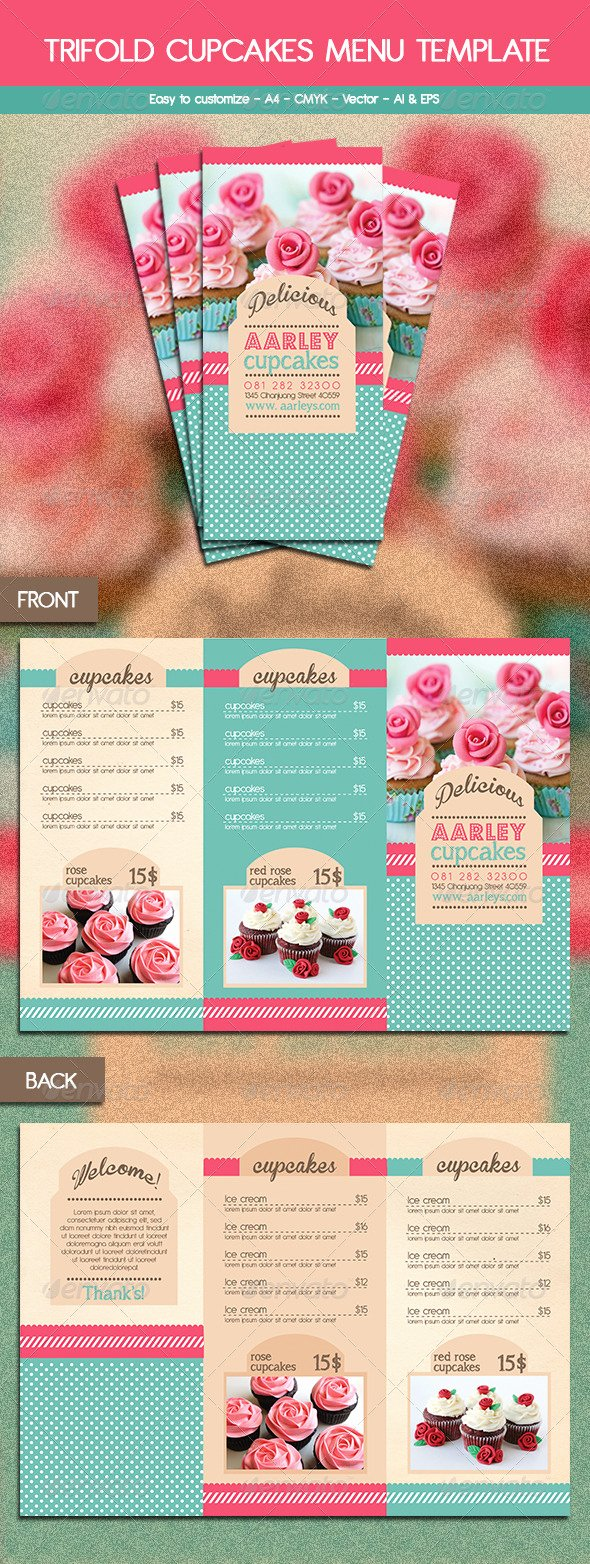 Trifold Menu Template Free Best Of Free Bakery Menu Trifold Template Dondrup