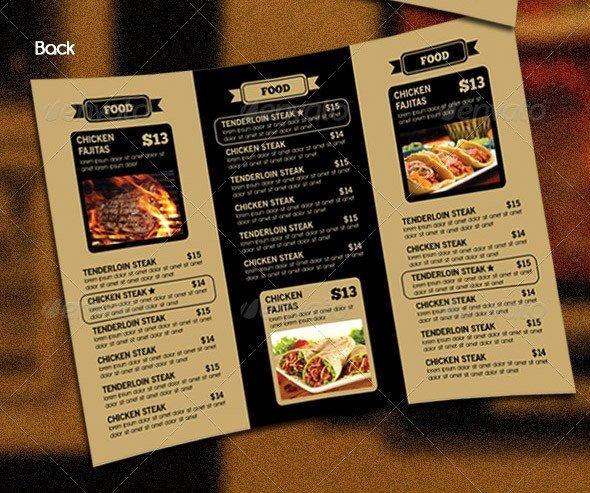 Trifold Menu Template Free Fresh 14 Great Tri Fold Restaurant Menu Psd Templates