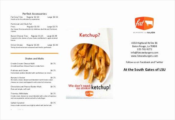 Trifold Menu Template Free Fresh Tri Fold Menu Templates – 25 Free Psd Eps format