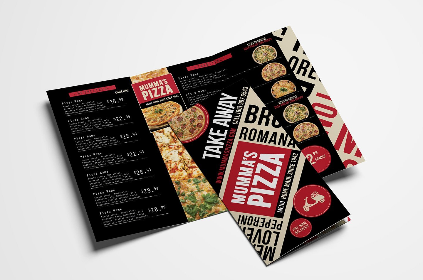 Trifold Menu Template Free Inspirational Trifold Pizza Menu Template Brochure Templates