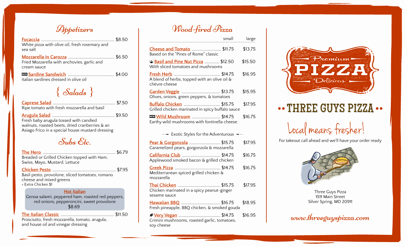 Trifold Menu Template Free Lovely Menu Design Samples From Imenupro More Than Just Templates