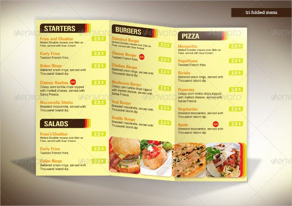 Trifold Menu Template Free Luxury 22 Tri Fold Menu Templates – Free Sample Example format