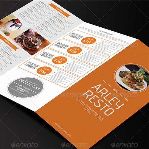 Trifold Menu Template Free Unique 35 Breakfast Menu Templates Psd Eps Indesign