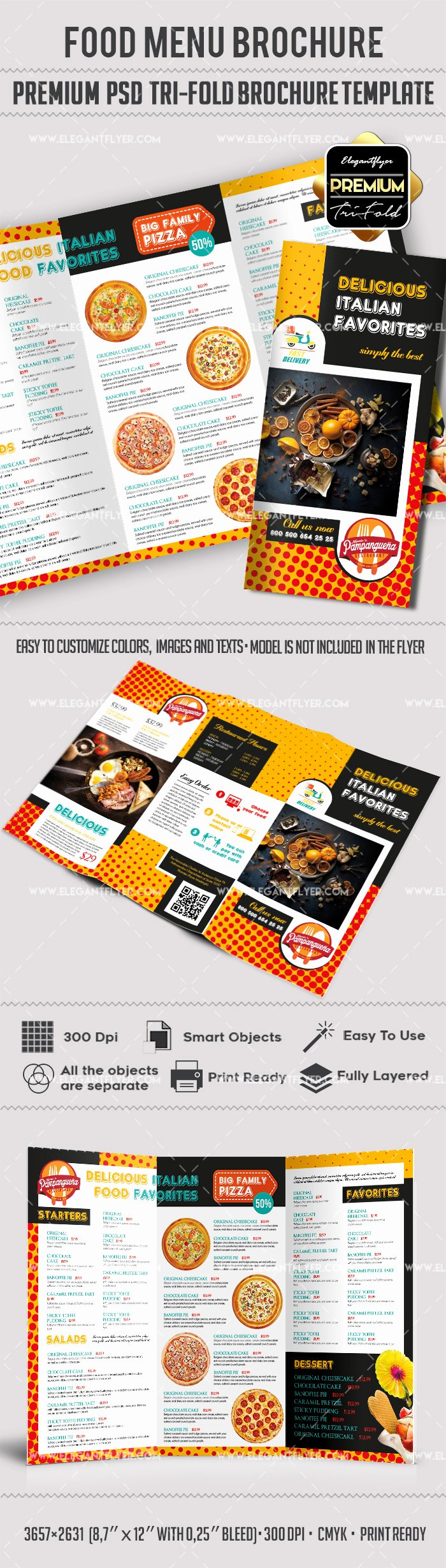 Trifold Menu Template Free Unique Food Menu Templates for Tri Fold Brochure – by Elegantflyer