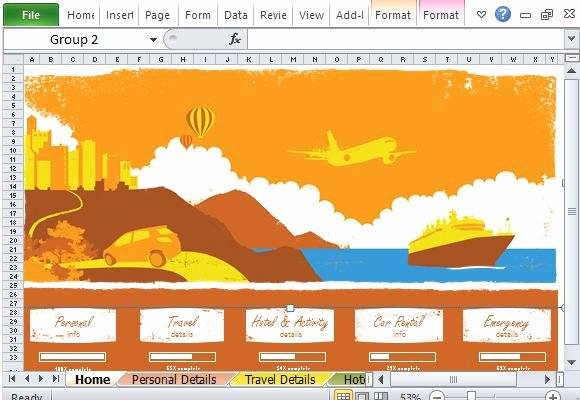 Trip Planner Template Excel Awesome Free Vacation Planner Excel Template