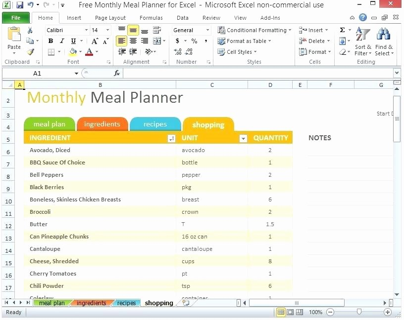 Trip Planner Template Excel Beautiful Trip Planner Excel Monthly Meal Planner Excel Template