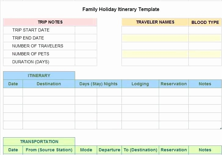 Trip Planner Template Excel Luxury Enter Image Description Here Holiday Travel Planner