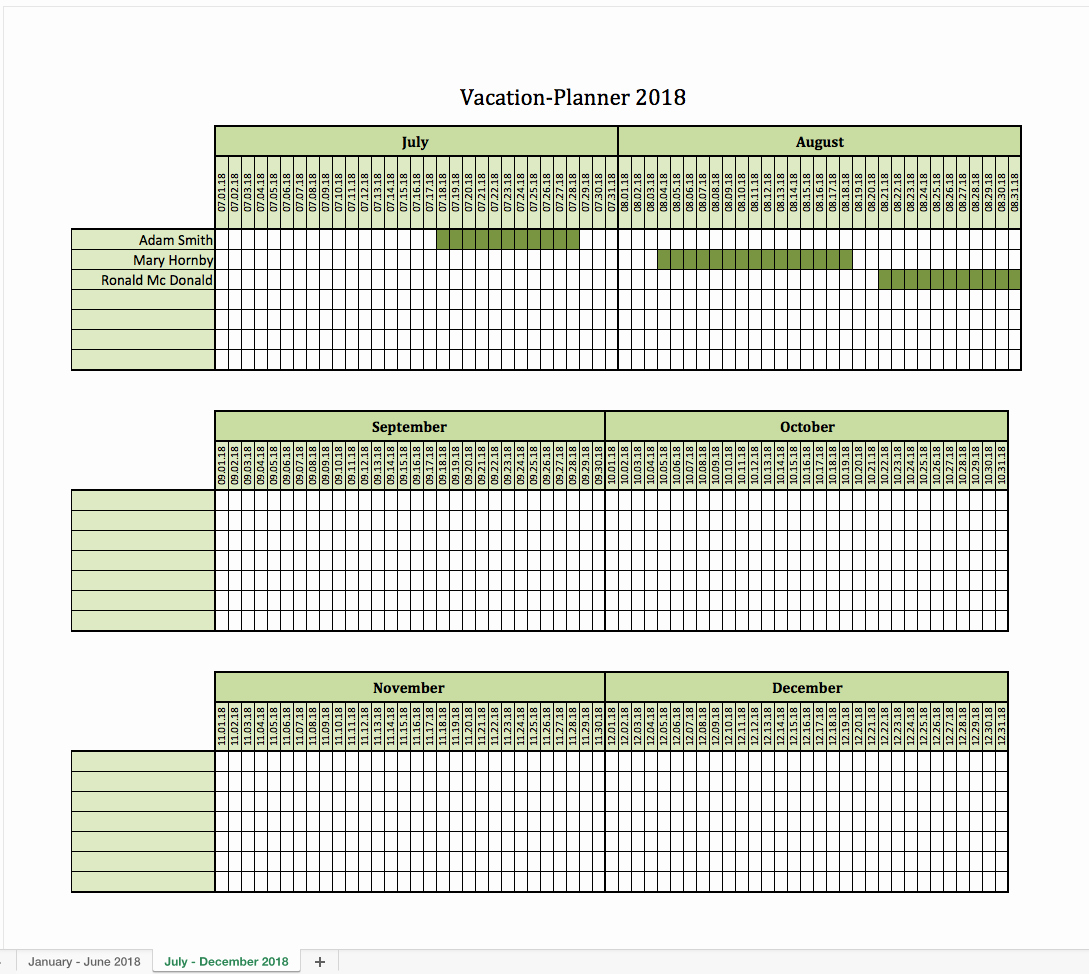 Trip Planner Template Excel Unique Vacation Planner 2018